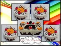 SET TOPLES FLANEL WHITE COVER FRUITS