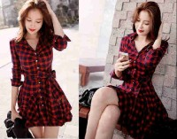 Dress Gabby Square Red