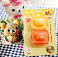Cetakan Nasi Telur Bento Rice Egg Mold 2in1 Karakter Rilakuma