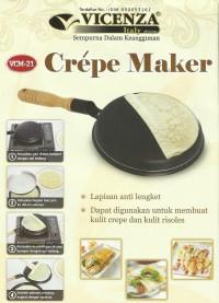 Vicenza Crepe Maker (VCM-21) / Wajan Pembuat Dadar / Free Spatula