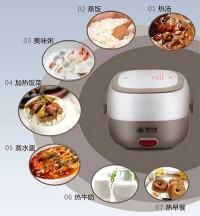 Rice Cooker Mini 2 Susun Dengan Egg Boiler / Lunch Box Electric