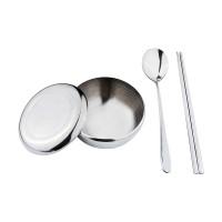 Tanica Sendok Sumpit mangkuk Korea Set - Peralatan makan