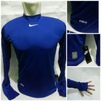 Baselayer Manset Bola Grade Ori Nike Blue Stormfit