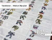 Transformer Sticker MEDIUM Name Label. Stiker karakter Optimus Prime, Bumblebee, lucu utk nama di buku tas sekolah hp hadiah