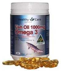 Omega 3 Fish Oil Healthy Care Minyak Ikan 400 Kapsul