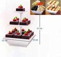 Snack Server Rak Aneka Kue Buah Coklat cup cake | Etalase 3 Tingkat