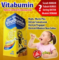 Vitabumin MADU + Albumin ikan - Nutrisi Tumbuh Kembang Anak