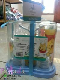 Baby Gift botol susu bayi Kiddy ( 4 Botol) Bpa Free & rak botol susu