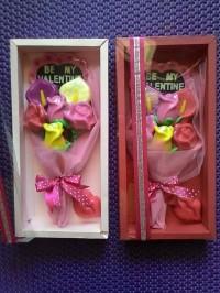 Coklat valentine buket bunga (box ekslusif)
