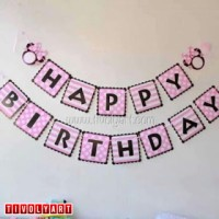 "Bunting Flag Happy Birthday ""Minnie Mouse"" / Banner Ulang Tahun"