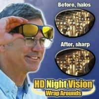 kacamata hd vision sunglass 1 box 2 pc hitam dan kuning