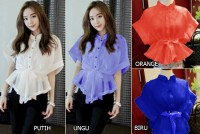 BLOUSE VIVA / Atasan Organza Wanita Fashion Murah - B.017