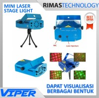 Mini Laser Stage Light Multicolor Projector & Tripod - Cahaya Panggung