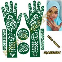 Cetakan Mahendi Stiker Tangan Henna