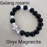 GELANG ROSARIO BLACK ONYX-MAGNECITE