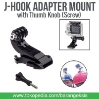 J-Hook Adapter Mount w/ Thumb Knob (Screw) for SJCAM,Xiaomi Yi & GoPro