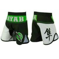 "HAYABUSA ""Flex Factor"" Celana Combat/ MMA Fightshorts - Black/Green"