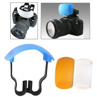 Pop-up Flash Soft Flash Diffuser Kit (White Diffuser / Blue Diffuser /
