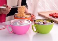 Fresh Bowl mangkok stainless steel dengan pegangan dan tutup - HKN217