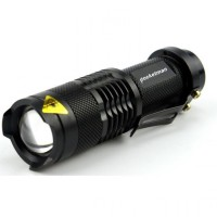 Paket Senter Police Pocketman Senter LED Flashlight Baterai + Charger