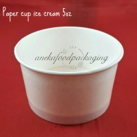 Paper cup ice cream/gelas ice cream 5oz
