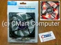 DeepCool Fan Casing Wind Blade RED LED 12cm 12 case cooler - WB120-RD