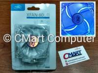 DeepCool Fan Casing XFAN BLUE LED 8cm 8 case cooler Deep Cool - XF80BL