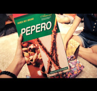Lotte Pepero Almond and Chocolate JUMBO BIG PACK!! Snack Import