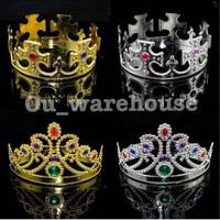 king and queen crown - mahkota raja dan raju - mahkota pesta - mahkota