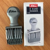 8 Band Number Stamp 3mm Shiny N-58