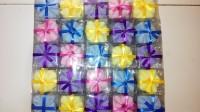 souvenir pernikahan - saputangan handuk kecil bunga