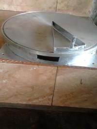 loyang crepes 32cm semiotomatis dengan penutup anginya