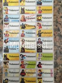 Label Nama Stiker Waterproof Sticker anti air Lego Superhero ML