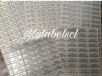 Label Nama Stiker Waterproof Sticker anti air Silver Doft S M XXL