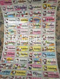 Label Nama Stiker Waterproof Sticker Sanrio Hello Kitty Cat SML