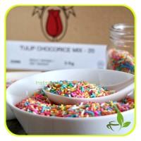 Tulip Meises Coklat warna warni Chocorice Mix Hiasan Cupcakes 1kg
