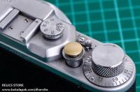 Brass Soft Shutter Button Convex (Cembung) - Kuningan