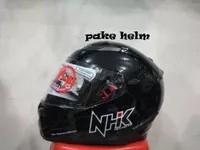 HELM NHK RX 9 SOLID HITAM GLOSSY FULL FACE RX9