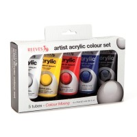 Reeves Acrylic Color Tube Intro Set 5x75ml