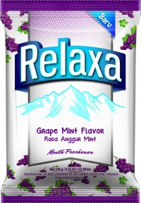 harga Relaxa grape mint candy bag pack of 3 Tokopedia.com