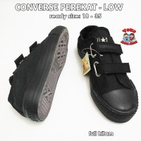sepatu converse anak low perekat - full hitam