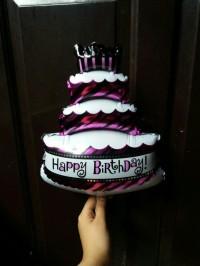 Balon Foil Cake Kue Pink Ukuran mini / Kecil