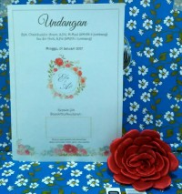 Undangan Pernikahan Vintage Retro Painting Flower