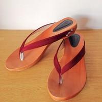 sandal wanita flat/sandal jepit etnik/arunni/kelom/jpt marun