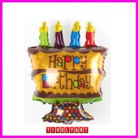 "Balon Foil Cake Mini ""Happy Birthday"""