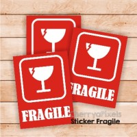 04- FRAGILE STICKER - LABEL - STIKER