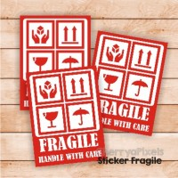 01- FRAGILE STICKER - LABEL - STIKER