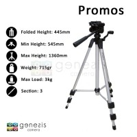 Excell Promoss Tripod DSLR Compact Camera Handycam Video