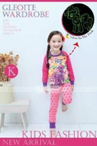 Piyama GW-133 K Glow In The Dark: Little Pony Pink (2-7 Tahun)