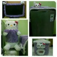 Gkm+bando tv led/lcd hello kitty ungu putih